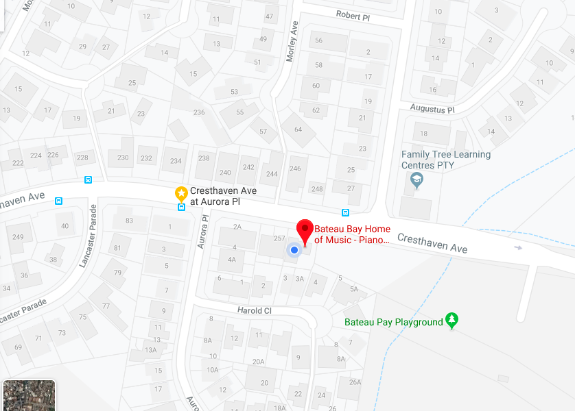 Cresthaven Ave map
